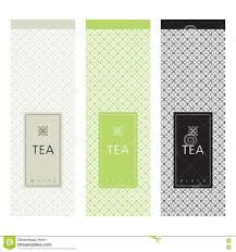 tea packaging template design element stock vector image 80781016