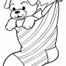 dog puppy coloring pages kids cute christmas pictures
