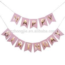 birthday ribbon gold sting happy birthday letter banner customized birthday
