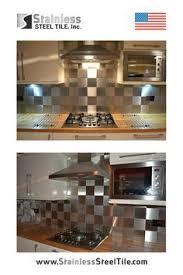 Steel Tile Backsplash by Stainless Steel Tile Backsplash Modern Metal Tiles