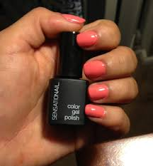 shellac diy sensational by nailene color coral sunset nails