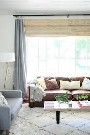 Brown Leather Sofa Living Room Decorating With A Brown Leather Sofa Impressive Design Ideas
