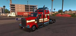 kenworth custom parts kenworth w900 custom red and white skin mod american truck
