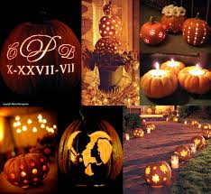 carve out a place for pumpkin centerpieces