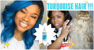 turquoise hair via natural living colors hair dye youtube