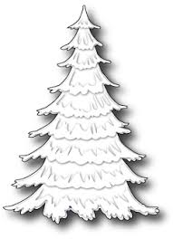memory box frosted christmas tree die 98668 123stitch com