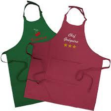 tablier cuisine personnalisé pas cher tablier de cuisine personnalisé avec prénom brodé amikado