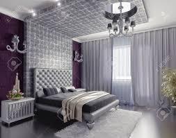 Bedroom Designer 3d Modern Style Bedroom Interior 3d Render Dof Efffect Stock Photo