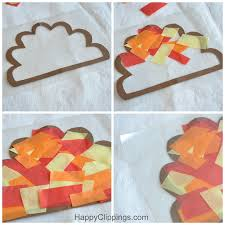 Kids Stained Glass Craft - diy tissue paper stained glass turkeys kids craft