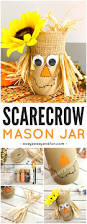 diy scarecrow mason jar fall mason jar crafts easy peasy and fun