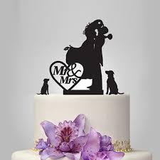 vintage cake topper silhouette wedding cake topper custom name cake topper vintage