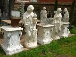 antique garden statuary cast iron statues sculptures size