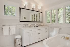 white carrera marble bathroom contemporary with flooring modern