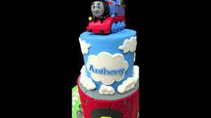 thomas the train birthday cake youtube