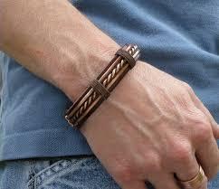 diy bracelet men images Men 39 s leather and copper bracelet men 39 s leather jpg