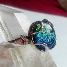 crematory jewelry ashes infused glass cremation jewelry ring 12mm swirl 7 8