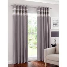 46 Inch Length Curtains Napoli Pleated Border Fully Lined Eyelet Curtain 46 X 72 54
