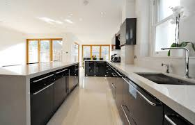 White Kitchen Cabinets With Black Island Kitchen Photos Black Appliances Wood Cabinets Black Island Design