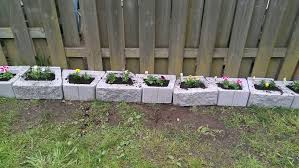 Backyard Landscaping Ideas For Dogs by I Used Concrete Blocks As Planters To Keep My Dog From Digging