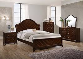 Wenge Bedroom Furniture Brand Furniture Wenge Mahogany Finish Wood King