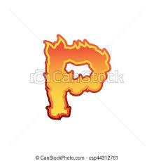letter p fire flames font lettering tattoo alphabet clip art