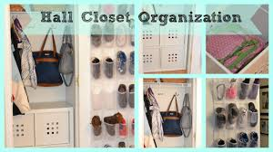 hall closet organization youtube