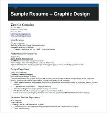 graphic artist sample resume graphic designer resume template