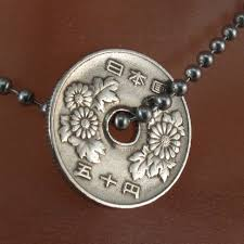 coin jewelry necklace images Vintage japanese necklace coin jewelry japanese coin jpg