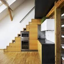 Space Saving Stairs Design Interior Modern Home Interior Decoration With Elegant Brown