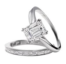 emerald cut wedding set harry winston emerald cut diamond solitaire engagement ring