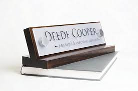 Wooden Desk Name Plates Amazon Com Personalized Desk Name Plate Makes A Great Co Worker