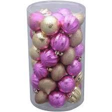 time 41 pack pink gold matte glitter ornaments walmart