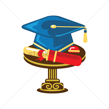 graduation items graduation items on a table vector image 1964747 stockunlimited