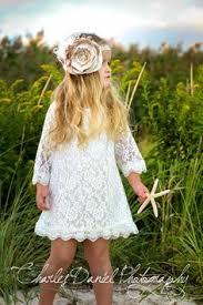 ivory lace dress 3 4 sleeve wedding rustic ivory white and
