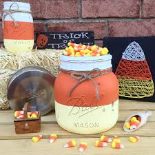 Mason Jar Halloween Candy Corn Candy Bowl Candy Corn Mason Jar Home Decor Fall