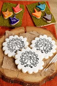 thanksgiving cupcakes for kids paint your own cookie for thanksgiving the bearfoot baker