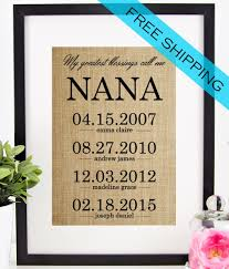 gifts for grandmothers personalized nana gift s day gift for gift for