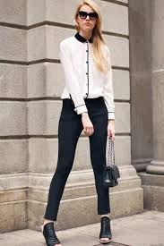black and white blouse eggshell black and white oasap blouses black and white blouse