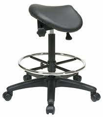 Adjustable Drafting Chair Saddle Seat Backless Drafting Stool With 25 35 Inch Seat Height