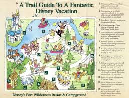 Walt Disney World Resorts Map by Walt Disney World Resort Brochures