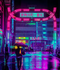 the magic tokyo neon lights of the streets at captured by