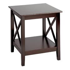 X Side Table Milan Espresso X Side End Table Tree Shops Andthat