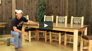 Log Dining Room Tables by Rocky Top Log Furniture On Vimeo