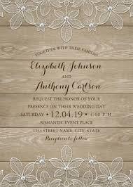 Luxury Wedding Invitation Cards Rustic Wood Lace Wedding Invitations Elegant Vintage Luxury