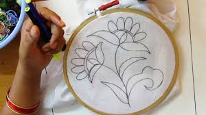 sketch design embroidery bead stitch design youtube