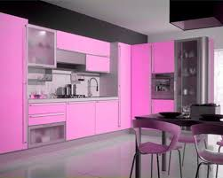 pink kitchen decorating ideas in elegant style home design pink kitchen decorating design applying black accent wall