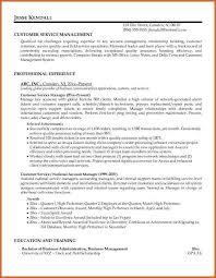 customer service resume resume name