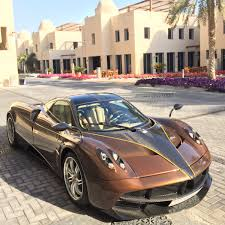 Golden Brown Carbon Pagani Huayra Madwhips
