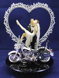 harley davidson wedding cake toppers 210 motorcycle biker wedding cake topper with harley davidson
