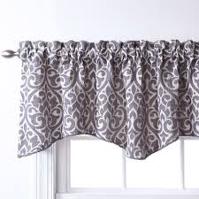Swag Curtains With Valance Leah Window Valance Yellow Grey Walmart Com